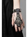 Браслет с кольцом Рука скелета CC145