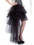 Многослойная пышная асимметричная юбка