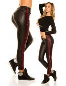 Кожаные брюки термо с лампасами (108084) - оригинальная одежда, 2
