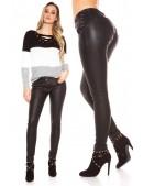 Черные джинсы с эффектом кожи MF085 (108085) - оригинальная одежда, 2