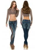 Джинсы со шнуровкой KouCla (108073) - оригинальная одежда, 2