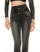 Черные джинсы с высокой талией KouCla (108101) - оригинальная одежда, 2