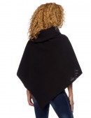 Кашемировое пончо с воротником E&A (111002) - оригинальная одежда, 2
