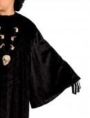 Детский черный балахон с широким рукавом (222006) - материал, 6