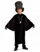 Детский черный балахон с широким рукавом (222006) - оригинальная одежда, 2
