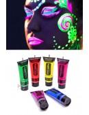 Неоновые краски для лица и тела (6 цветов) (120010) - foto