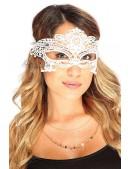 Белая кружевная маска 901002 (901002) - цена, 4