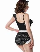 Асимметричный черно-белый купальник Belsira (140075) - оригинальная одежда, 2
