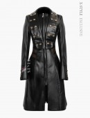 Женский кожаный плащ X-Style (114021) - foto