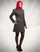 Демисезонное твидовое пальто с шалью (114036) - оригинальная одежда, 2
