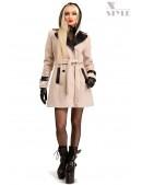 Кашемировое зимнее пальто с капюшоном 115047 (115047) - foto