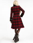 Зимнее женское пальто с меховой шалью X5058 (115058) - материал, 6