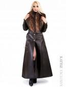 Длинное пальто с меховым воротником X-Style (115024) - foto