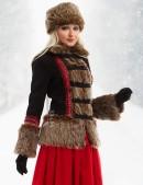 Короткое пальто с мехом и вышивкой X-Style (115051) - 3, 8