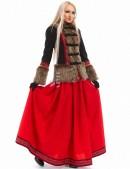 Короткое пальто с мехом и вышивкой X-Style (115051) - цена, 4