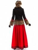 Короткое пальто с мехом и вышивкой X-Style (115051) - оригинальная одежда, 2