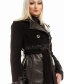 Зимнее женское пальто из кашемира и кожи X-Style (115043) - цена, 4
