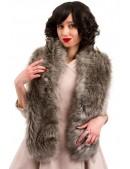 Пальто в стиле Ретро с меховой горжеткой (114042) - цена, 4