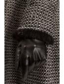 Зимнее твидовое пальто с мехом X5056 (115056) - материал, 6