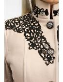 Длинное зимнее пальто женское X5057 (115057) - материал, 6