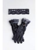 Ажурная маска и перчатки (комплект) DC2002 (912002) - оригинальная одежда, 2