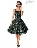 Винтажное платье с цветочным узором и вышивкой (105403) - foto