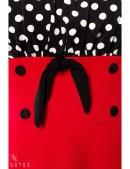 Красное платье с присборенным лифом (105248) - материал, 6
