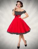 Красное платье с присборенным лифом (105248) - цена, 4
