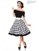 Винтажное платье с клетчатой юбкой (105255) - foto