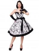 Ретро платье с контрастными деталями и поясом (105263) - цена, 4