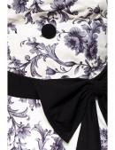 Ретро платье с контрастными деталями и поясом (105263) - материал, 6