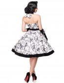 Ретро платье с контрастными деталями и поясом (105263) - оригинальная одежда, 2