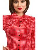 Красное клетчатое платье в стиле Ретро (105276) - материал, 6