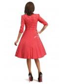 Красное клетчатое платье в стиле Ретро (105276) - оригинальная одежда, 2
