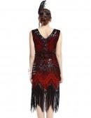 Ретро-платье в стиле 20-х XTC (105299) - материал, 6