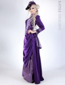 Прогулочное платье в стиле конца 19 ст. (125028) - foto