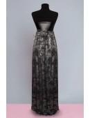 Длинное платье с портупеей и жемчугом (105218) - цена, 4