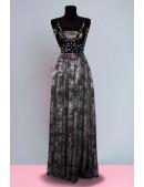 Длинное платье с портупеей и жемчугом (105218) - foto