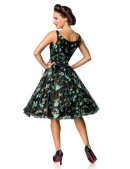Винтажное платье с цветочным узором и вышивкой (105403) - оригинальная одежда, 2