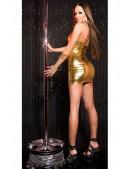 Блестящее золотистое платье KouCla (127164) - 3, 8