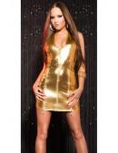 Блестящее золотистое платье KouCla (127164) - материал, 6