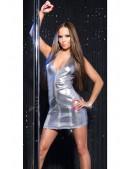 Глянцевое серебристое платье KouCla (127165) - 4, 10