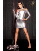 Серебристое платье с открытыми плечами KC168 (127168) - foto