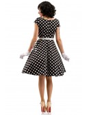 Платье в горошек с поясом X5340 (105340) - оригинальная одежда, 2