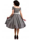 Клетчатое платье с открытыми плечами и поясом X5347 (105347) - цена, 4