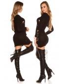 Рваный черный свитер-платье KouCla (105375) - 4, 10