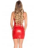 Красное платье с глубоким декольте MF7144 (127144) - материал, 6