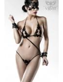 Сексуальное белье с наручниками и маской Grey Velvet (135014) - foto