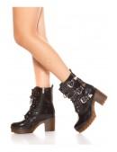 Ботинки женские с полиуретановыми подошвами MF10047 (310047) - оригинальная одежда, 2