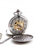 Двусторонние механические часы с цельной крышкой (330037) - foto